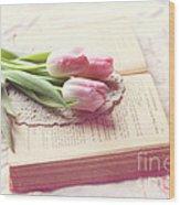 Open Book Wood Print