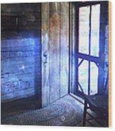 Open Cabin Door With Orbs Wood Print