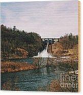 Dam At Raystown Lake Wood Print