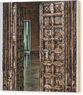 Open Door By Diana Sainz Wood Print