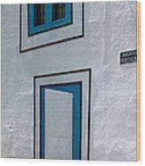 Open Door On Avenida Reboucas Wood Print