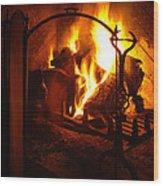 Open Fire Wood Print