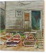 13. Yacht Club Wood Print