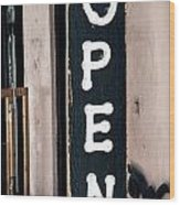 Open For Business Wood Print