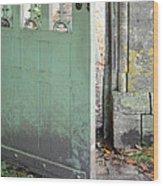 Open Garden Gate Wood Print