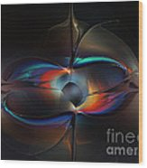 Open Minded-abstract Art Wood Print