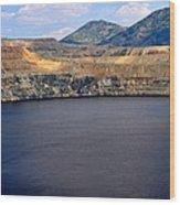 Open Pit Copper Mine Wood Print
