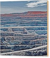 Open Pit Gold Wood Print