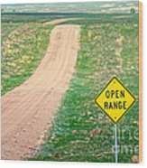 Open Range Wood Print