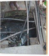 Open Sewer Wood Print