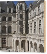 Open Staircase Chateau Chambord - France Wood Print