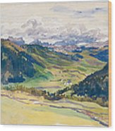 Open Valley. Dolomites Wood Print