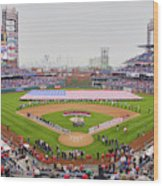 Opening Day Ceremonies Featuring Wood Print