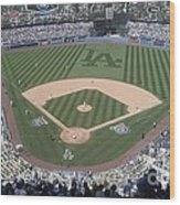 Opening Day Upper Deck Wood Print by Chris Tarpening