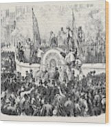 Opening Of The First Public Drinking Fountain Wood Print