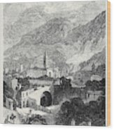 Opening Of The Mont Cenis Tunnel The Town Of Susa 1871 Wood Print