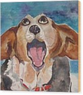 Opera Dog Wood Print