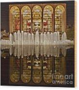 Opera House Reflections Wood Print