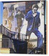 Derry Mural Operation Motorman  Wood Print