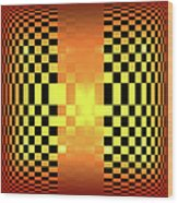 Optical Illusion Wood Print