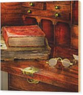 Optometrist - Glasses - The Secretary Wood Print