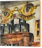 Optometrist - Spectacles Shop Wood Print