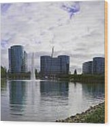 Oracle Buildings In Redwood City Ca Wood Print