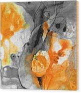 Orange Abstract Art - Iced Tangerine - By Sharon Cummings Wood Print