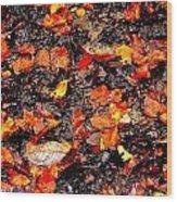 Orange And Brown Wood Print