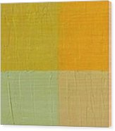 Orange And Mint Wood Print