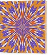 Orange And Purple Kaleidoscope Wood Print