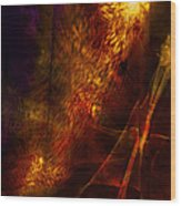 Orange And Red Wood Print