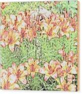 Orange Asiatic Lilies Wood Print