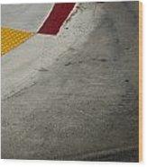 Orange Avenue Curb Cut Coronado California Wood Print