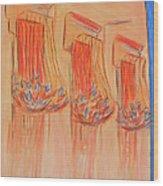Orange Balcony Wood Print by Marcia Meade