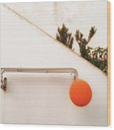 Orange Baloon Wood Print
