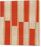Orange Bars Wood Print