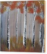 Orange Birch One Piece Wood Print