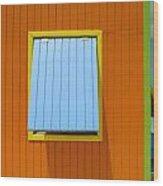 Orange Cabin Wood Print
