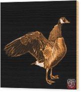 Orange Canada Goose Pop Art - 7585 - Bb  Wood Print
