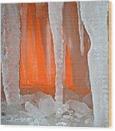 Orange Cave Wood Print