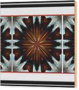 Orange Chocolate Trio - Kaleidoscope - Triptych Wood Print
