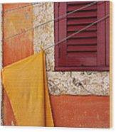 Orange Cloth  Wood Print
