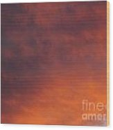 Orange Clouds At Sunset Wood Print