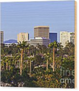 Orange County California Office Buildings Picture Wood Print