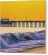 Orange County Panoramic Sunset Picture Wood Print
