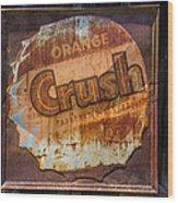 Orange Crush Sign Wood Print