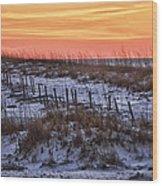 Orange Dawn Wood Print