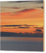 Orange Dawn Rising Wood Print