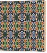 Orange Day Lily Design Wood Print